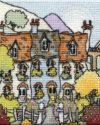 Mini Railway Cottages stitched