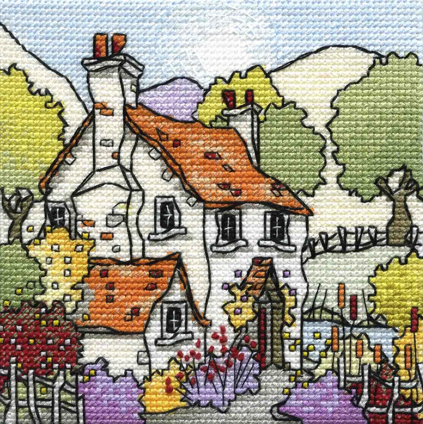 Mini River Cottage stitched