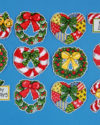 candy cane & wreath